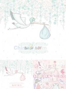 卡通儿童卡片矢量素材下载