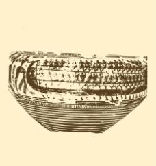 几何形风格陶罐图片