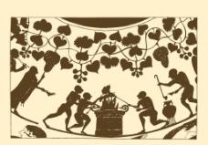酒神节的欢乐场面图片