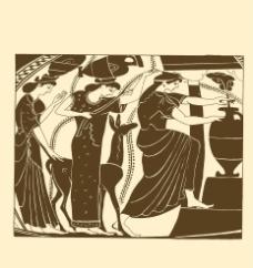 汲泉水的妇女图片