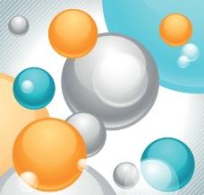 动感立体圆球背景图片