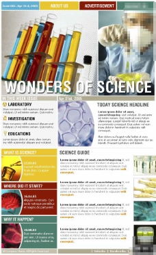生物科学订阅邮件网页模板