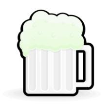 复古啤酒杯的形状