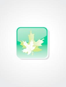背景与孤立的绿色按钮