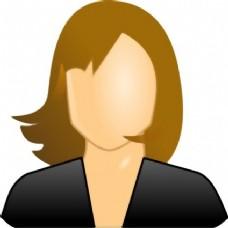 女性用户图标剪贴画
