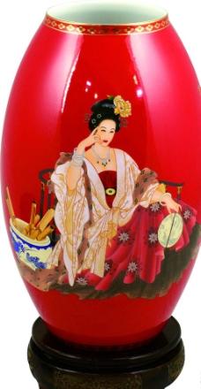 红瓷 花瓶 古典花瓶图片