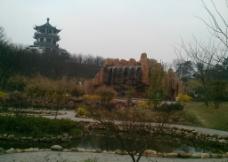 塔 木塔 园林图片