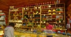 长白山天池纪念品店图片