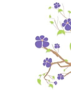 紫色的花朵自然分公司