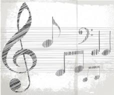 音符插画矢量图