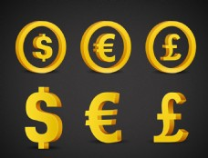 立体货币符号PSD分