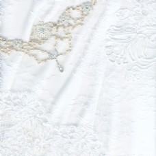 美丽洁白的纺织婚礼背景