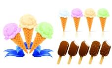 夏日甜筒冰淇冰棍素材图片