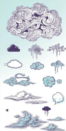 下雪的云朵简笔画