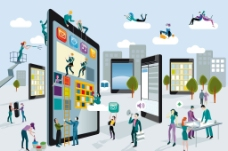 网络科技创意广告图片