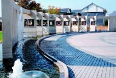 小区喷泉图片