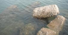 海中石头图片