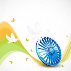 印度独立日第十五八月背景
