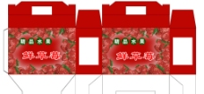 红色草莓盒图片
