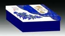 青花礼盒(展开图)图片