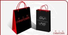 唐人街时尚手提袋设计图片