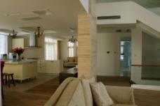 木纹餐厅厨房