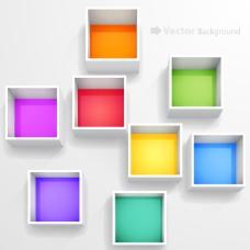照片墙7彩 展示台 展示框