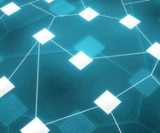 Web网络图像的蓝色背景