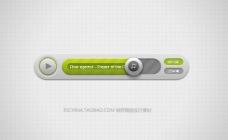 网页播放器按钮 分层图标设计素材