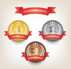 经典金属质感勋章