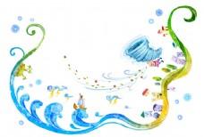 大海免费插画素材