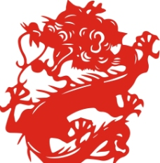 中国龙艺术图 矢量图片