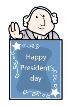 乔治华盛顿总统日向量