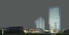 高层公建商业模型素材图片