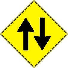 paulprogrammer黄色的路标双向交通的剪辑艺术