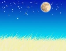 月光下的麦田图片