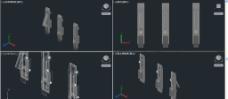 门锁CAD三维实体图图片