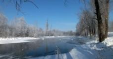 不冻河冬天随拍图片
