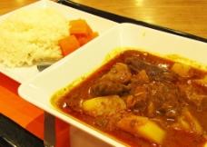 港式咖喱牛腩饭图片