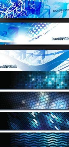 蓝色科技横幅背景矢量图片