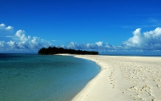 浅滩 海岛 摩西海道图片