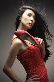 女鞋美女模特品牌单鞋图片
