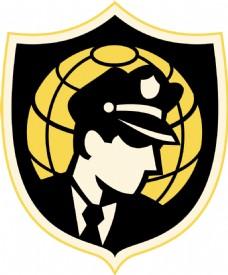 保安或警察局与世界