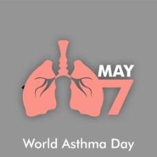 世界哮喘日背景