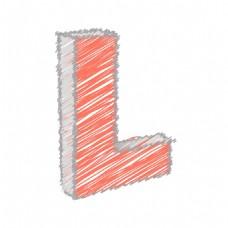 涂鸦字母矢量