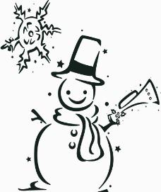 雪人插画设计图片