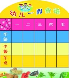 幼儿食谱展板图片