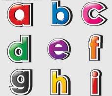 彩色字母 彩字图片