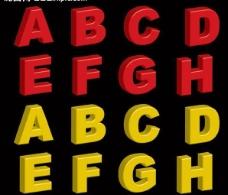 立体英文字母图片