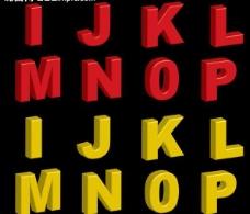 英文立体字母图片